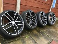 Audi RS6 black edition alloys with tires