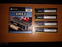 8gb DDR3 ram. 4 x 2gb sticks. Corsair XMS 3. All Matching
