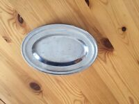 Six Small stainless steel serving tray