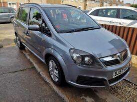 2007 Vauxhall Zafira life 1.6 petrol, *MOT 12 months* MPV 7 seater (ford,renault,citroen
