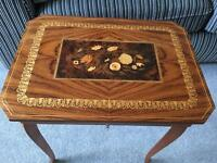 Beautiful antique musical table very unusual