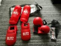 Kick boxing pads and mits