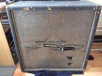 Vintage Hiwatt 4x12 guitar cabinet Fane speakers