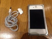 iPhone 4s (Unlocked) with Brand New Battery and Aluminium Bumper