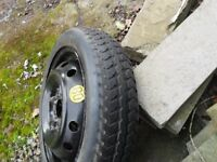 15 inch TOYOTA MR2 SPACESAVER BRIDGESTONE TYRE PCD 114.3 X 5 STUD FITS JAP CARS kingsmuir FORFAR