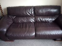 Two leather sofas available end of September