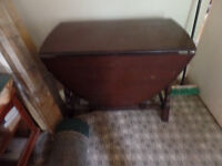 DROP LEAF TABLE (POSSIBLY OLD ERCOL) BUYER COLLECTS