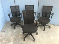 BLACK MESH BACK OFFICE ARM CHAIRS, BOARDROOM, MEETING, LOTS MORE CHAIRS IN STOCK