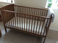 Kiddiecare Cot Bed and John Lewis Star Blanket