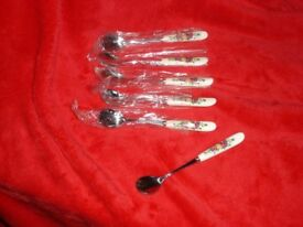 ROYAL ALBERT OLD COUNTRY ROSES GOOD MATCH TEA SPOONS