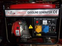 2.8kw bulldog 4 stroke petrol generator brand new filled with oil set up and ready for work