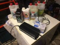 Hydroponic kit for indoor plants.