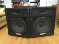 Yamaha SV12 PA speakers