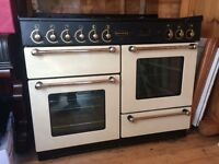 Range master 110 gas hob electric oven.