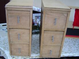 2 x small retro cupboards/chest of draws