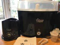 Tommee Tippee complete baby feeding steriliser kit in black and in great condition