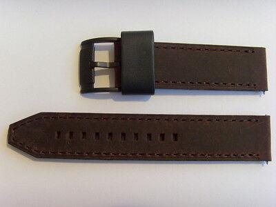 FOSSIL Original Ersatz Lederarmband FS4656 Uhrband strap braun brown 22 mm