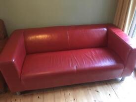 Retro Style Red Sofa