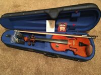 Stentor Student 1 full size 4/4 violin with case and bow, £45 or swap for other instrument