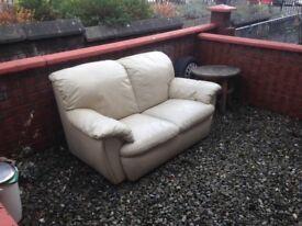 Leather Sofa Cream Colour For Free