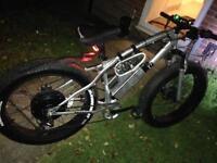 1600w 35mph Electric fat bike ebike fatbike snowbike fat tyres battery bike motorbike stunt downhill