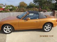 MAZDA MX5 ROADSTER WITH ADDITIONAL HARD TOP IN RACING BRONZE, GREAT CONDITION, LOW MILEAGE