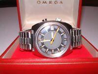 Vintage Omega Seamaster Memomatic Alarm watch (c1969) for sale.