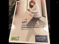 AAT bookkeeping transactions accounting book RRP £16