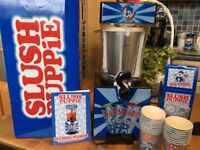 SOLD Genuine Slush Puppie machine. Boxed as new. Unwanted gift. Used once. Comes with cups/spoons.
