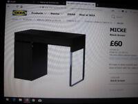 IKEA MICKE BROWN/BLACK DESK