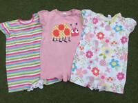 Next girls Summer sleepsuits 12-18months