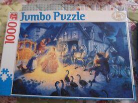 Jumbo 1000 piece Cinderella Puzzle.