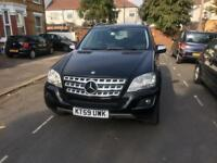 Mercedes-Benz M Class 3.0 ML300 CDI BLUEEFFICIENCY SPORT 5 DOOR AUTO 204 BHP IN BLACK LOW RATE FI