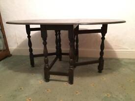 Hardwood drop leaf table