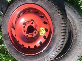 space saver wheel on rim on fait rim good tread 135 70 13