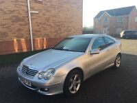 MERCEDES BENZ C CLASS DIESEL COUPE, SERVICE HISTORY, FULL HPI CLEAR