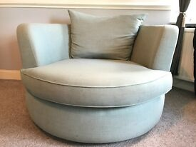 Beautiful Swivel 'cuddle chair' for sale - great condition