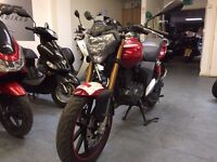 Keeway RKV 125cc Manual Motorcycle, Red, 2016 Model, Good Condition, ** Finance Available **