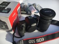 Cannon EOS 50D with cannon zoom 75-300mm lens immaculate condition