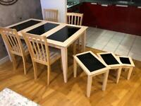 Dining Table and Chairs, with matching Nested Tables
