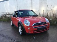 MINI ONE 7 1.6 3 DOOR IN CHILLI RED 2006/06 PLATE 1 YEARS MOT 1 PREVIOUS OWNER