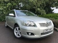 2007 (07) Toyota Avensis 2.2 D-4D 150 T3-X ESTATE 61,000 MILES 1 OWNER FROM NEW FULL SERVICE HISTORY