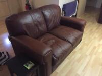 *Collection only* 2 seater leather couch/sofa