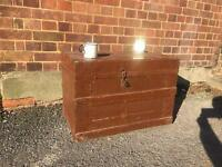 GENUINE VINTAGE TRUNK CHEST FREE DELIVERY STORAGE BOX 🇬🇧