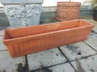 Terracotta oblong flower planter