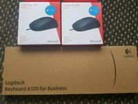 Logitech Keyboard and Microsoft Mouse