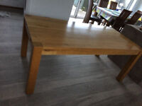 Solid Dark Wood Dining Table 160 x 90 Lovely Condition