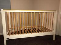 Mama's and papas cot bed and dressing unit