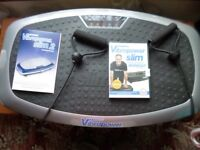 VIBRAPOWER SLIM 2 AS NEW WITH CD, REMOTE, MANUAL AND RESISTANCE BANDS, GRAPHITE IN COLOUR