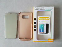 Samsung Galaxy S6 Edge+ Accessories - Battery Cover and Samsung Silver Clear View Cover